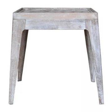 A&B Home Rafferty Accent Table In Burnt White