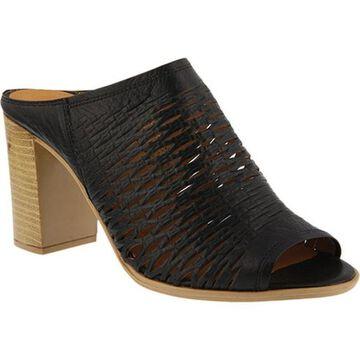 Spring Step Women's Marinda Slide Black Leather