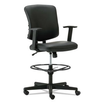 Alera Everyday Task Stool Black Leather TE4619