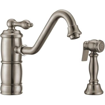 Whitehaus WHKTSL3-2200-NT Vintage III Plus 1.5 GPM Single Hole Kitchen Sink Faucet