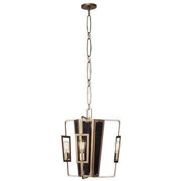 Varaluz Madeira 3-light Rustic Gold Chandelier