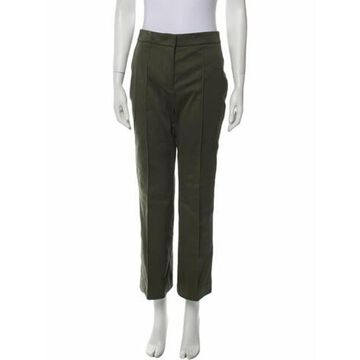 Mid-Rise Wide Leg Jeans Green