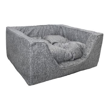 Snoozer Premium Micro Suede Square Palmer Dove Dog Bed