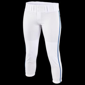 Easton Womens Easton Low Rise Pro Piped Pants - Womens White/Blue-Royal Size S