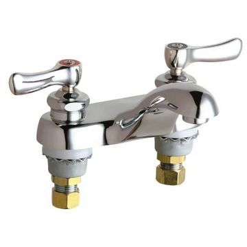 Chicago Faucets 802-AB Centerset Bathroom Faucet - Chrome