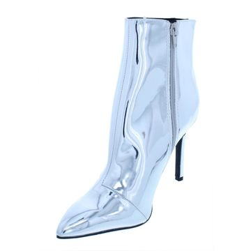 Thalia Sodi Womens Rylie Mirrored Pointed Toe Ankle Boots