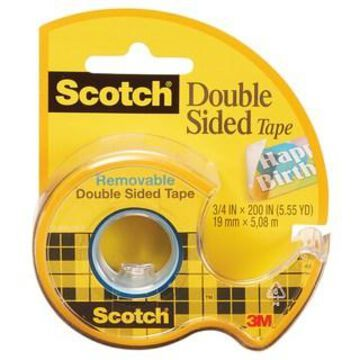 Scotch Removable Double Sided Tape, 6 Rolls