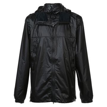 padded zip front hooded jacket
