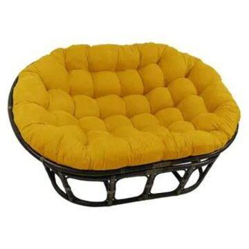 Blazing Needles 78-inch Microsuede Double Papasan Cushion (Lemon)