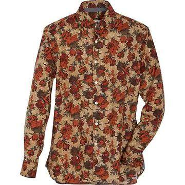 Joseph Abboud Men's Tan & Rust Floral Sport Shirt - Size: XL