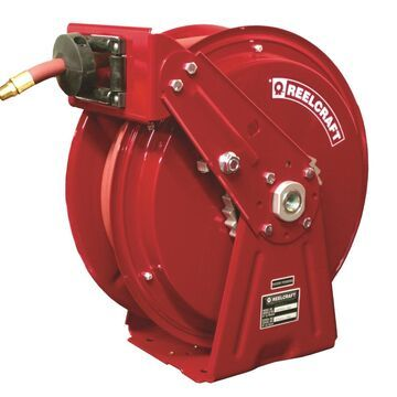 DP7850 OLP 300 PSI 0.5 in. x 50 ft. Heavy Duty Compact Dual Pedestal Hose Reel