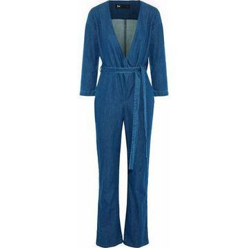3x1 Moxy Wrap-effect Denim Jumpsuit