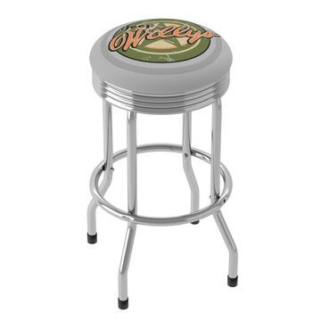 Jeep Willys Vintage 360 Degree Swivel Barstool with Foam Padded Seat - 20.75 x 20.75 x 29