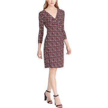 American Living Womens Geo Sheath Dress