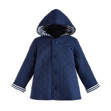 Toddler Boys Hooded Reversible Quilted Cotton Jacket, Created for Macy's