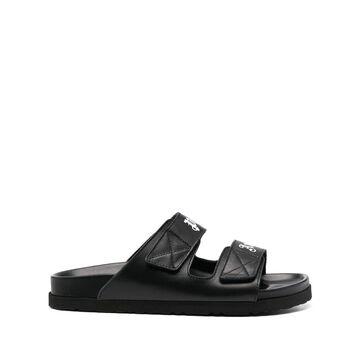 PALM ANGELS logo-strap sandals