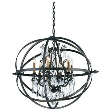 Byron, Pendant, 6 Light, Vintage Bronze Finish