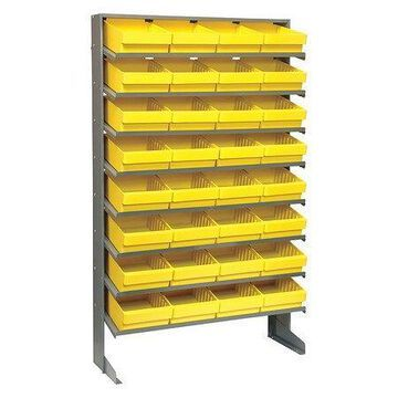 QUANTUM STORAGE SYSTEMS QPRS-701YL Pick Rack,Overall 12'' D,Yellow
