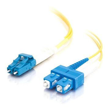 C2G 7m LC-SC 9/125 Duplex Single Mode OS2 Fiber Cable - Yellow - 23ft