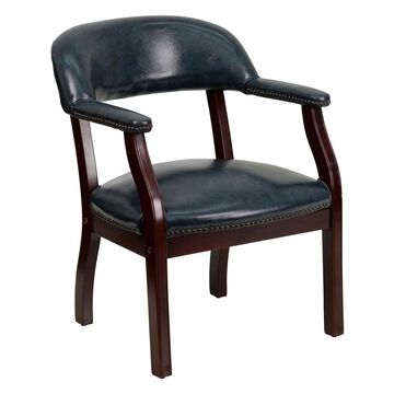 Offex Navy Vinyl Luxurious Conference Chair