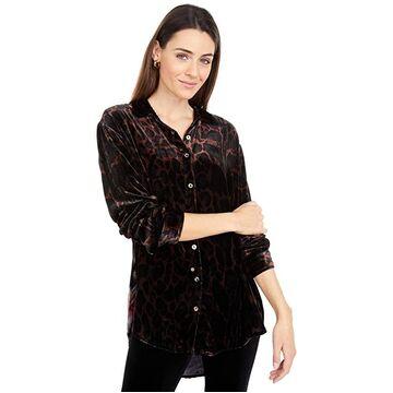Johnny Was Velvet Oversized Shirt (Multi A) Women's Clothing