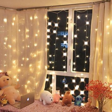 Warm White 300 LED Fairy Curtain String Lights Wedding Party Perfect Holiday