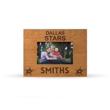 Sparo Dallas Stars Brown 9.75'' x 7.75'' Personalized Wood Picture Frame