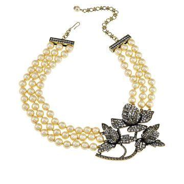 Heidi Daus Bloom in Love Multi-Strand Beaded Necklace