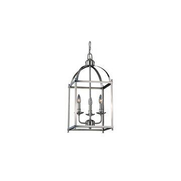 """Vaxcel Lighting P0200 Juliet 3 Light 12"""" Wide Multi Light Pendant Satin Nickel Indoor Lighting Pendants"""