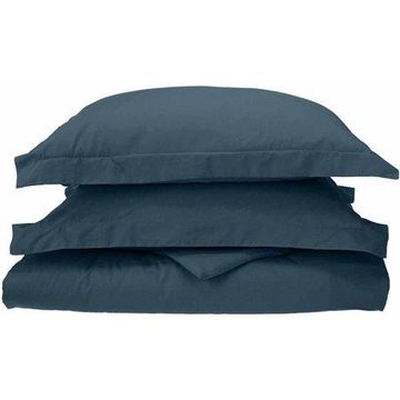 Superior Percale Cotton 300 Thread Count Solid Duvet Cover Set