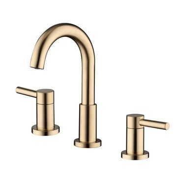 Jacuzzi Duncan Brushed Bronze 2-Handle 8-in Widespread WaterSense Bathroom Sink Faucet with Drain