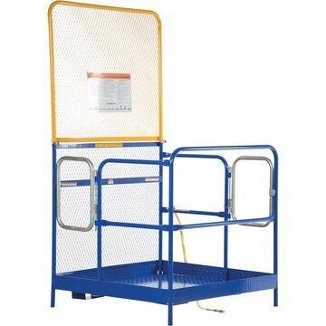 Vestil Work Platform with Dual-Side Entry and Automatic Locking Gate - Model WP-4848-84B-DD