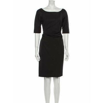 Silk Knee-Length Dress Rose