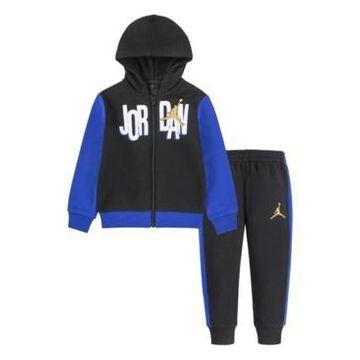 Jordan Little Boys Scramble Full-zip Hoodie and Pants, 2 Piece Set