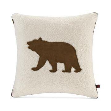 "Woolrich Bear Reversible 18"" Square Decorative Pillow"