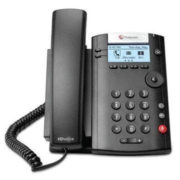 Polycom 2200-40450-025 VVX 201 Business Media Phone (2 Line PoE) W/ 2 10/100 ethernet ports