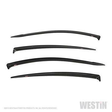 Westin 72-43492 Slim Wind Deflector; 4 pc.; Smoke;