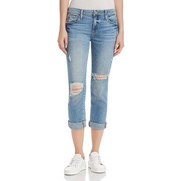 Paige Womens Brigitte Denim Destroyed Boyfriend Jeans