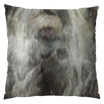 Plutus Brand Ash Handmade Throw Pillow, Single Sided, 20x30 Queen