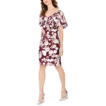 Connected Petite Mesh Flounce Dress, Created For Macy's