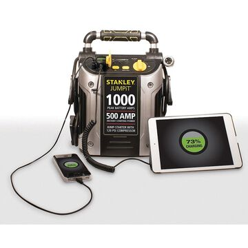 1000A Peak Jump Starter with Air Compressor Auto Car Battery Charger Emergency