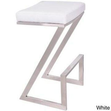 Armen Living Atlantis 26-inch Backless Counter Height Stool (White)