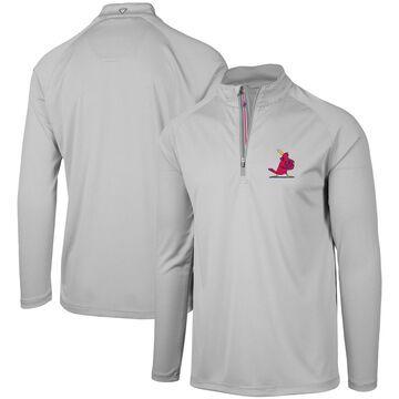 Levelwear St. Louis Cardinals Gray Orion Historic Logo Raglan Quarter-Zip Jacket