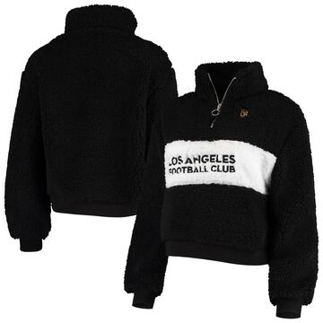 LAFC ZooZatz Women's Teddy Quarter-Zip Jacket Black