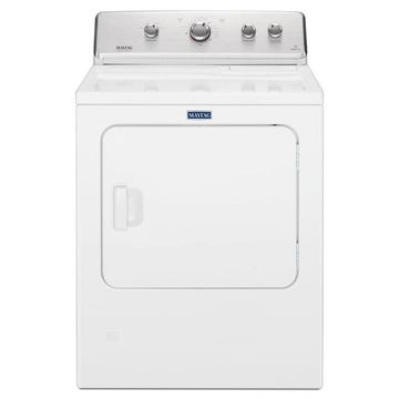 Maytag 7-cu ft Large Capacity Vented Gas Dryer with Wrinkle Control - White