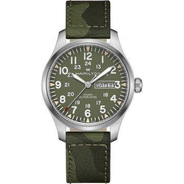 Hamilton Men's H70535061 'Khaki Field' Green Textile Watch