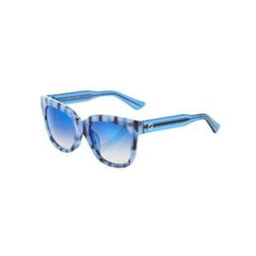 Square Acetate Striped Sunglasses