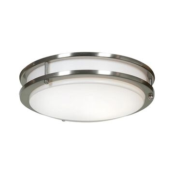 Access Lighting Solero Dimmable LED Brushed Steel 12-inch Flush Mount