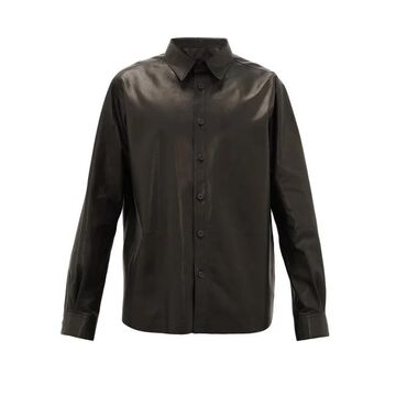 The Row - Dale Leather Shirt - Mens - Black