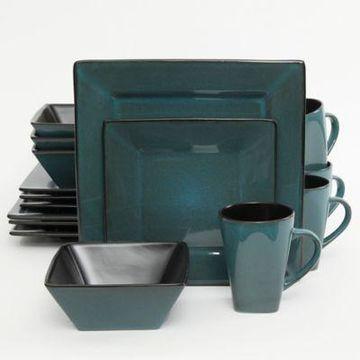Gibson Kiesling 16-Piece Dinnerware Set in Blue